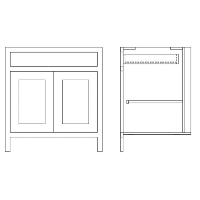 Base Double Door and Single Door Cabinet