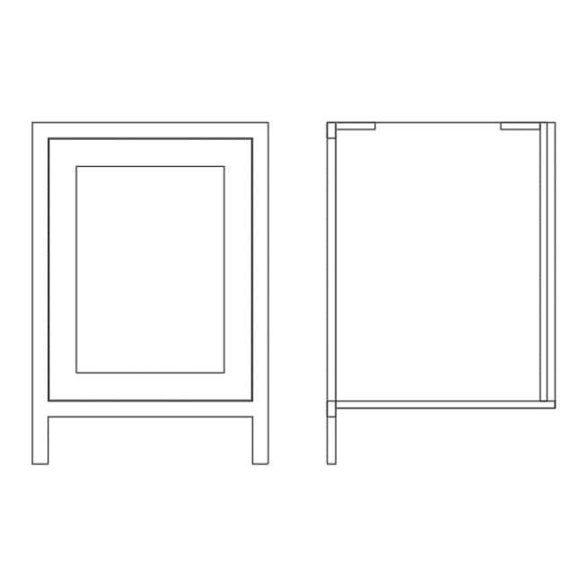 Pure Base Single Door Bin Cabinet