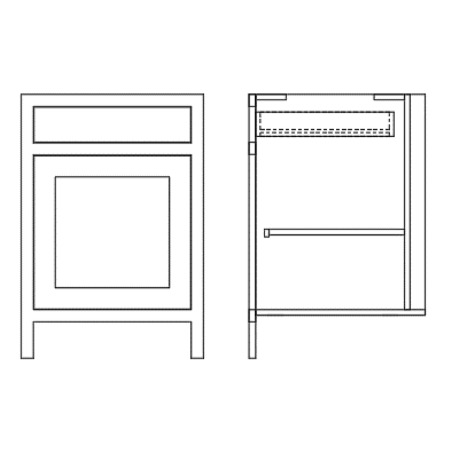 Base Single Door Drawer Cabinet