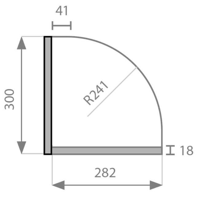 Curved Kitchen Doors Tech Diagram
