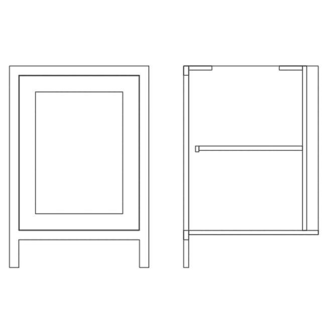 Pure Base Single Door Cabinet