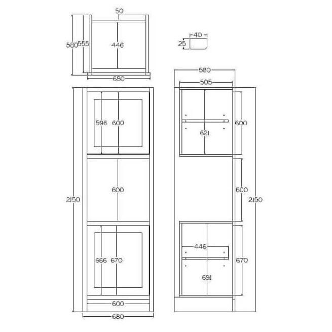 TSAH680 Single Aperture Appliance Housing Cabinet Tech