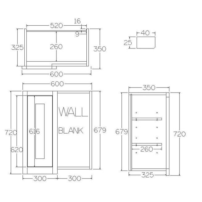 WBC600 Blind Corner Cabinet