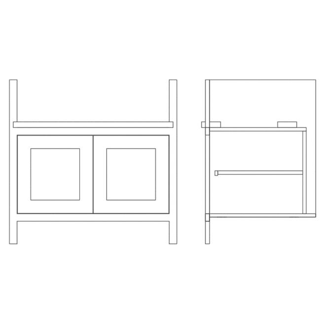 Base Double Door Pot Sink Cabinet