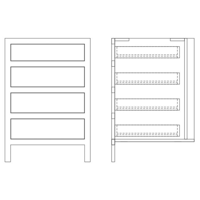 Base Drawer Pack Cabinet