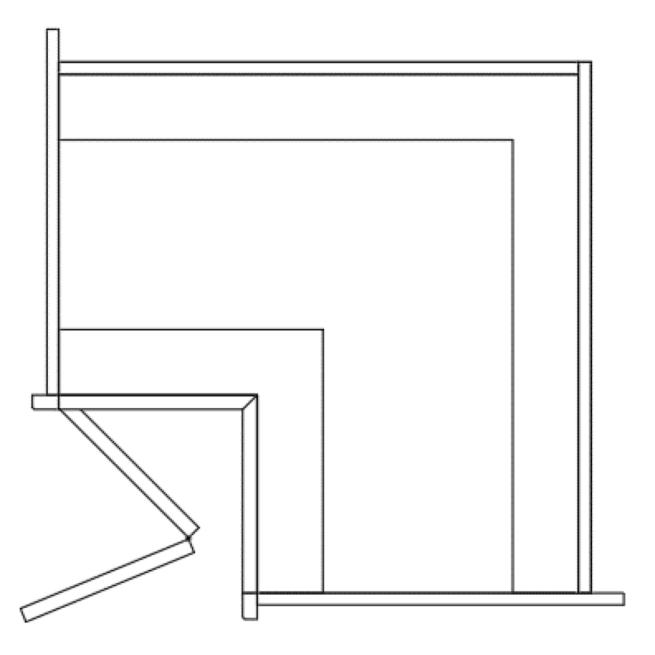 Base L Shape Corner Cabinet