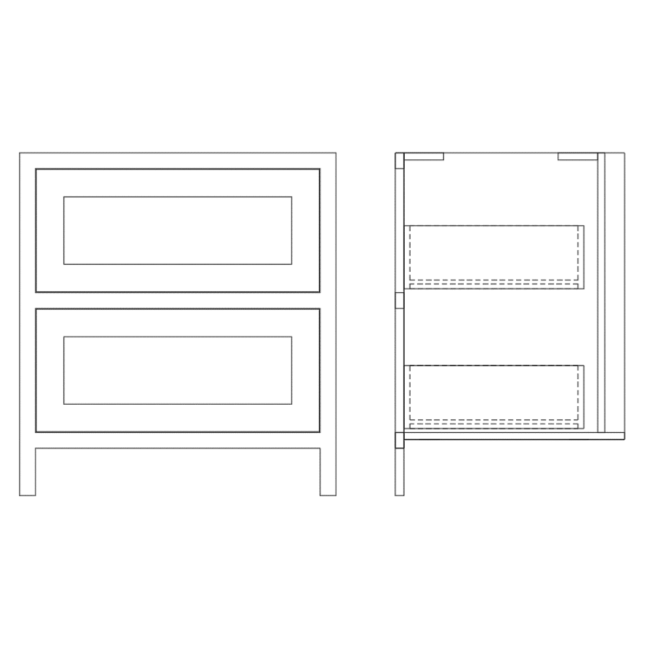 Base Pan Drawer Cabinet