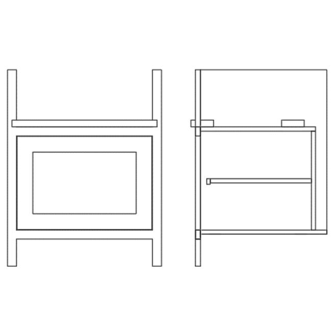 Base Single Door Pot Sink Cabinet