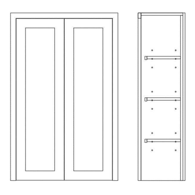 Dresser Double Door Cabinet