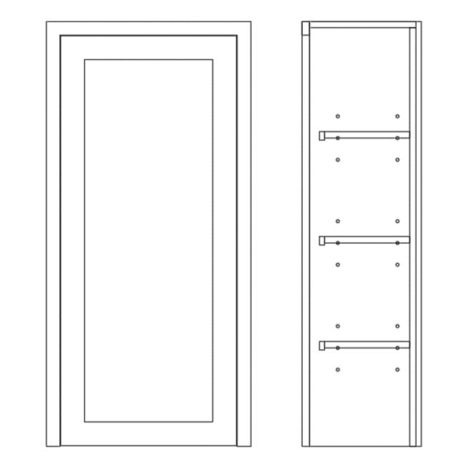 Dresser Single Door Cabinet