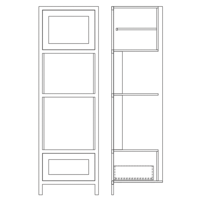 TDAH680 Tall Double Appliance Housing Cabinet