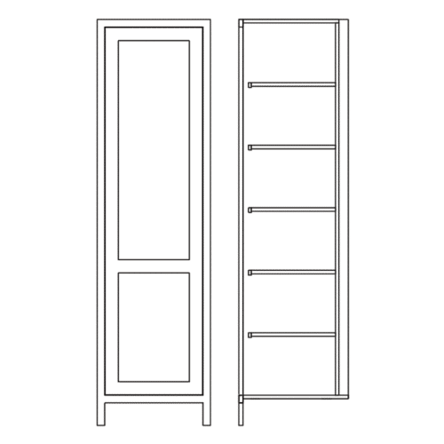 TSL600 Tall Single Door Larder Cabinet Tech