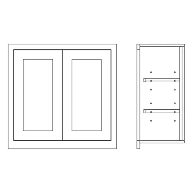 Wall Full Height Double Door Cabinet