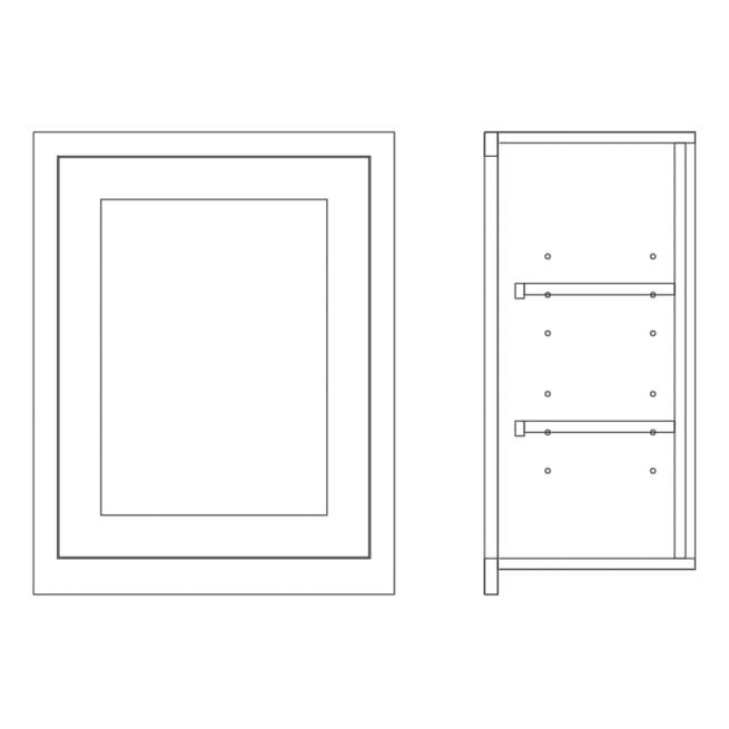 Wall Full Height Single Door Cabinet