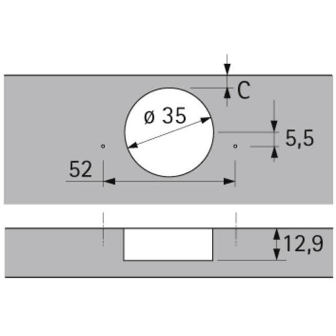 Hettish Sensys 9073607 Tech Diagram