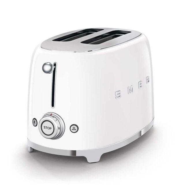 TSF01WHUK White Smeg 2 Slice Toaster