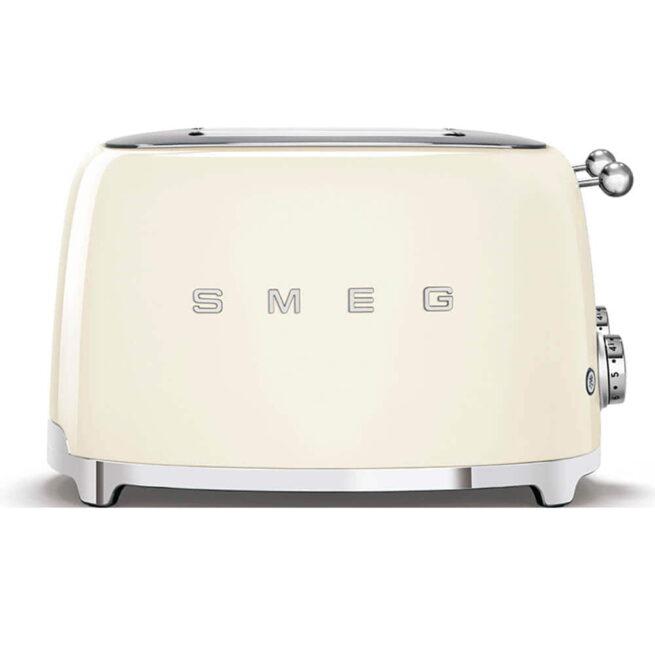 TSF03CRUK Smeg Cream 4 Slice Toaster Side