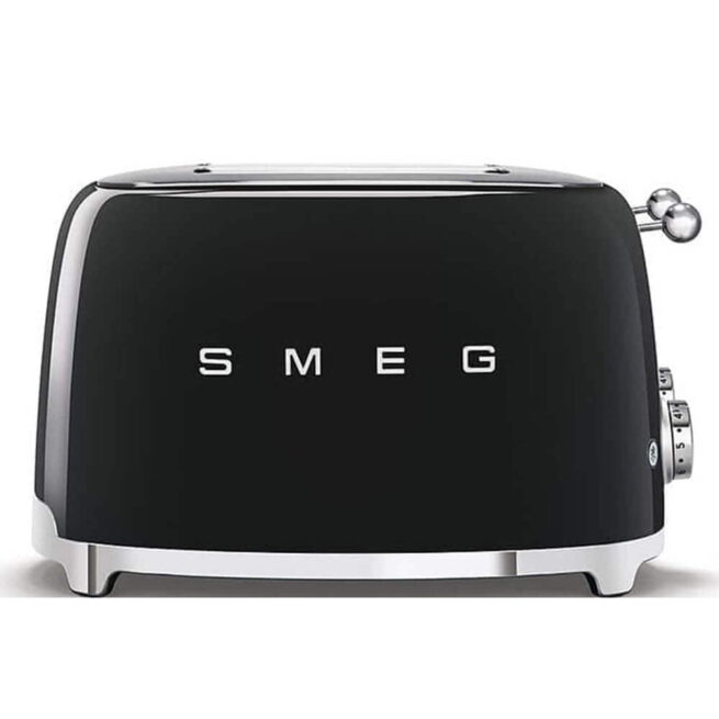 TSF03BLUK Smeg Black 4 Slice Toaster Side