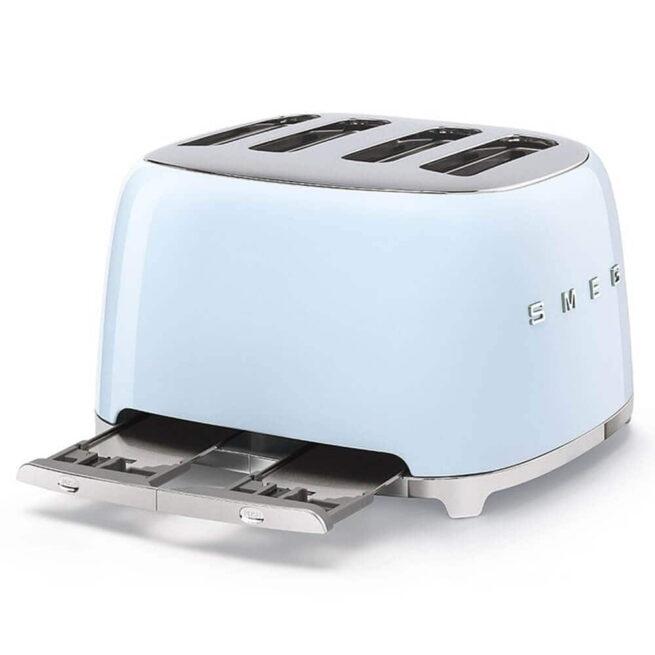 TSF03PBUK Smeg Pastel Blue 4 Slice Toaster Crumb Tray