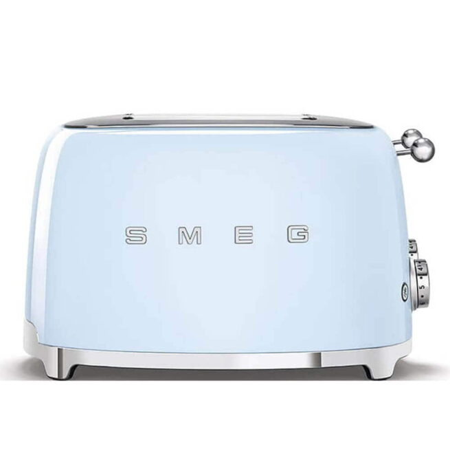 TSF03PBUK Smeg Pastel Blue 4 Slice Toaster Side View
